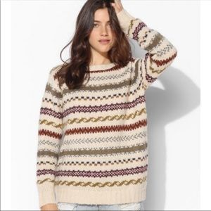 [Anthro] Fair Isle Oversized Sweater